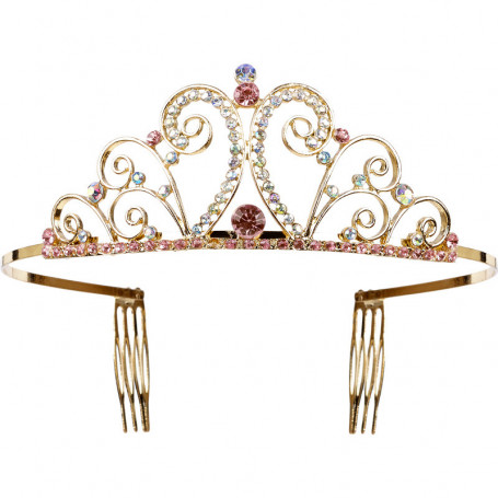 Golden crown with pearls Chapira - Girl Accessory