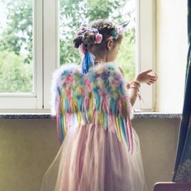 Ensemble Licorne avec ailes & serre-tête corne - accessoire déguisement enfant