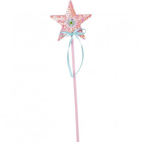 Magic wand Isabelle - pink star - accessory disguise child