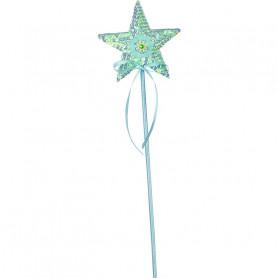 Baguette magique Isabelle - étoile menthe - accessoire déguisement enfant