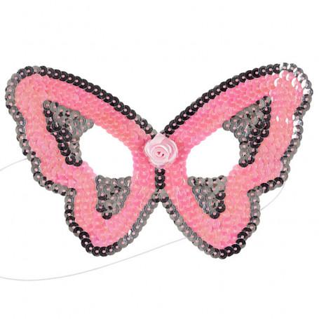 Masque rose Papillon - accessoire déguisement enfant