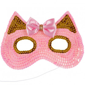 Pink Cat Mask - Child Costume Accessory