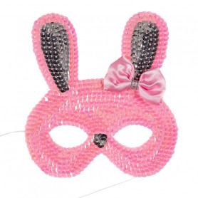Pink Rabbit Mask - Child Costume Accessory