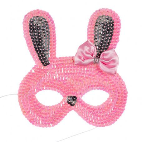 Masque rose Lapin - accessoire déguisement enfant