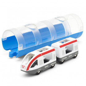 Train de voyageurs et tunnel