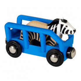 Zebra & Wagon for Brio train circuit