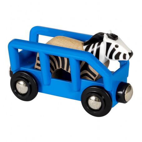 Zebra & Wagon for Brio train circuit