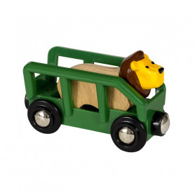 Wagon et lion pour circuit de train Brio