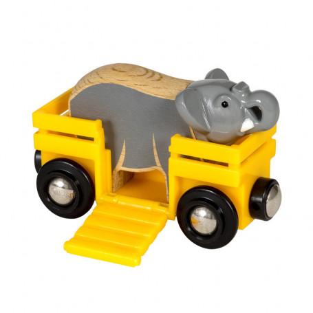 Wagon et éléphant pour circuit de train Brio