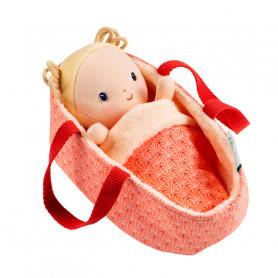 Bébé Anaïs avec couffin réversible