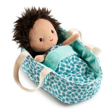 Bébé Ari avec couffin réversible