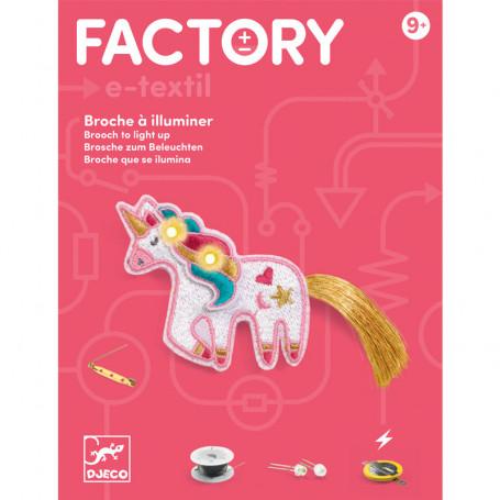 Factory E-textil broch Sweet unicorn - Brooch to light up