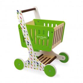 Chariot de course en bois Green Market
