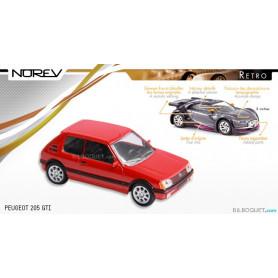 PEUGEOT 205 GTI rouge - Norev Rétro