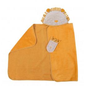 Sortie de bain lion et son gant - Sous mon baobab - Moulin Roty