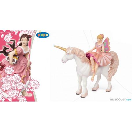 Elfe Ballerine sur sa licorne
