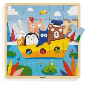 Puzzle en bois Puzzlo Boat - Djeco