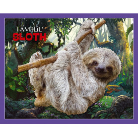 Sloth Shaped Jigsaw Puzzle - 100 pièces