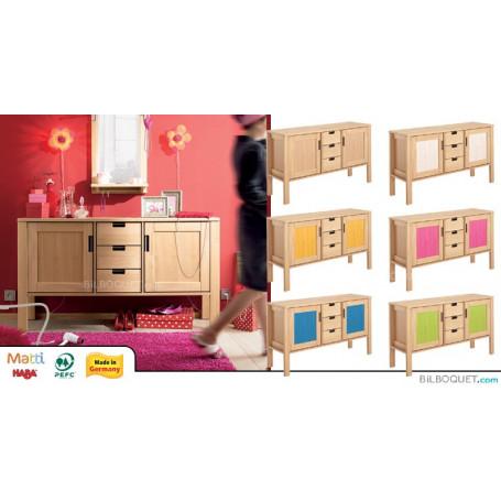 Commode basse 2 portes/3 tiroirs Matti