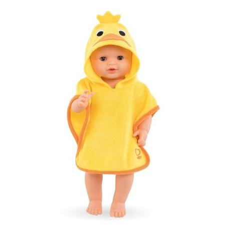Cape de bain jaune canard - Mon grand poupon Corolle 36 cm
