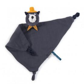 Doudou lange chat gris foncé - Les Moustaches - Moulin Roty
