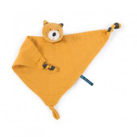 Doudou lange chat moutarde - Les moustaches - Moulin Roty