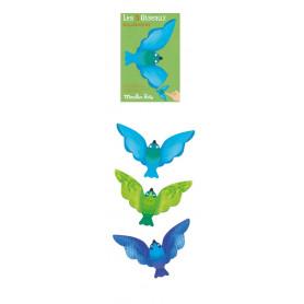 Set de 3 oiseaux équilibristes bleus - Les petites merveilles - Moulin Roty