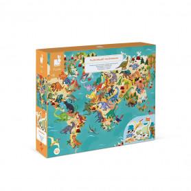Puzzle éducatif géant Dinosaures 200 pcs