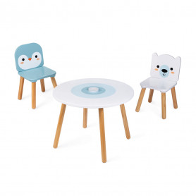 Table et 2 chaises Banquise (Bois)