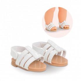 Sandales blanches pour poupée ma Corolle