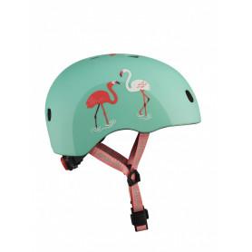 Helmet with LED Flamingo