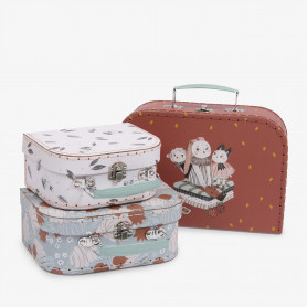 Après la pluie - illustrated suitcase set of 3