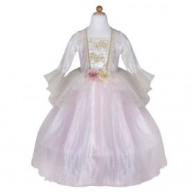 Robe de princesse rose pâle et or