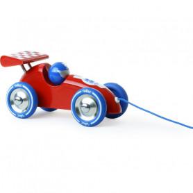 Voiture de course à trainer rouge-bleu