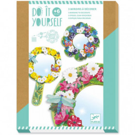 """3 miroirs à décorer """"Douceur florale"""" DIY - Djeco"""