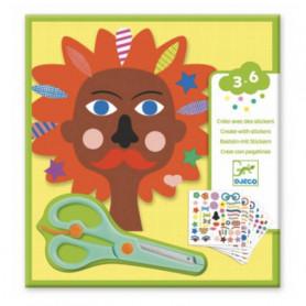 Créer avec des stickers coiffeur - Djeco