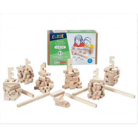 Jeu de construction en bois la Basic