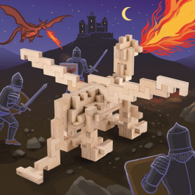 Jeu de construction en bois DRAGON