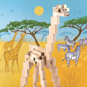JKit Building in wood GIRAFFE