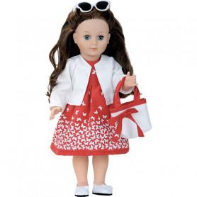 Marie-Françoise Classique 40cm Madone robe rouge
