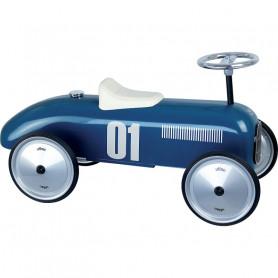 Porteur voiture vintage bleu pétrole