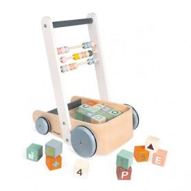 Chariot de cubes à pousser ABC Buggy Sweet Cocoon - Janod