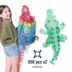 Building set 350 pièces by Clip it