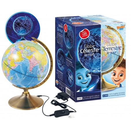 Space - Day and Night illuminated Globe