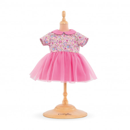 Pink dress - for baby doll 14''