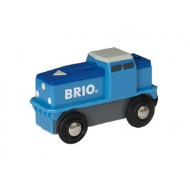 Locomotive de fret bleue à pile