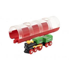 Train à vapeur et tunnel