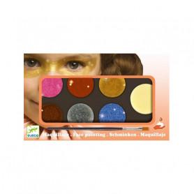 Palette maquillage 6 couleurs - Effet métal