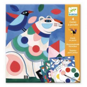 Cartes à peindre le bestiaire - Djeco