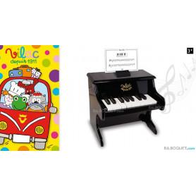 Piano noir 18 touches avec partitions